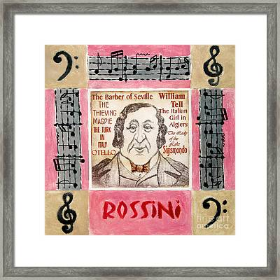 Rossini Portrait Framed Print by Paul Helm