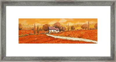 Rosso Papavero Framed Print by Guido Borelli