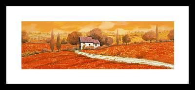 Tuscany Vineyards Framed Prints