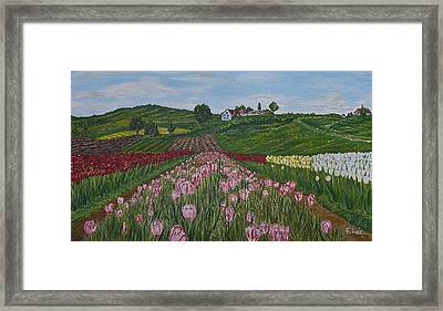 Walking In Paradise Framed Print by Felicia Tica