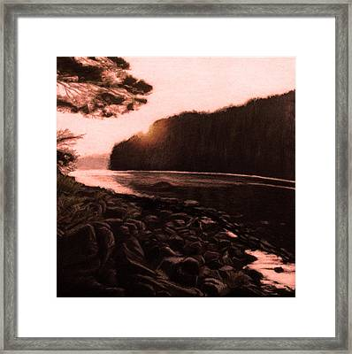 Rosy Glow Of Morning Framed Print