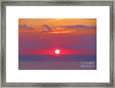 Rosy Sunrise Framed Print