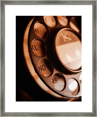 Framed Print featuring the photograph Rotary Dial by Mark Miller