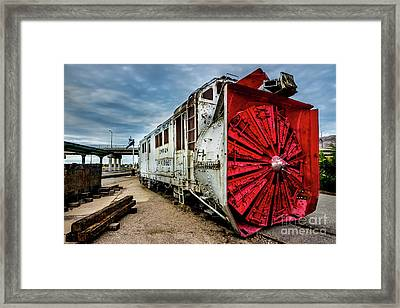 Rotary Snow Plow Vintage Train - Utah Framed Print by Gary Whitton