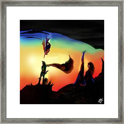 Rotatable Artwork We Can Be Heroes Framed Print