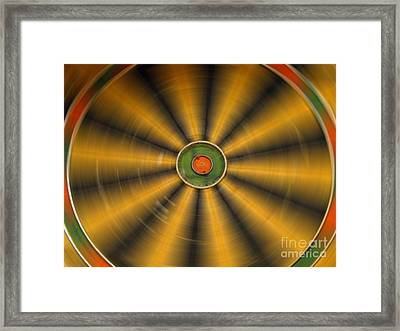 Rotating Dartboard Framed Print