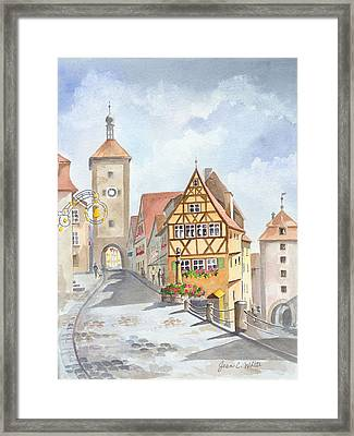Rothenburg In Germany Framed Print