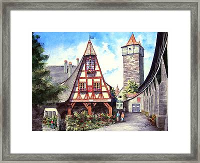 Rothenburg Memories Framed Print