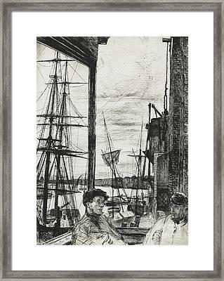 Rotherhithe Framed Print by James Abbott McNeill Whistler