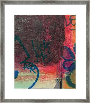 Rothko Detail And Lick Me  From Manhattan And Long Island City Framed Print by Maria Padgett