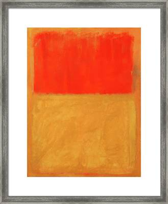 Rothko's Orange And Tan Framed Print