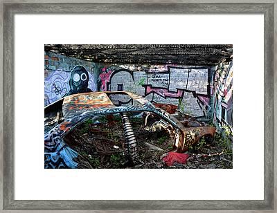 Rotten And Forgotten Framed Print