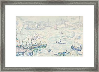 Rotterdam Framed Print by Paul Signac