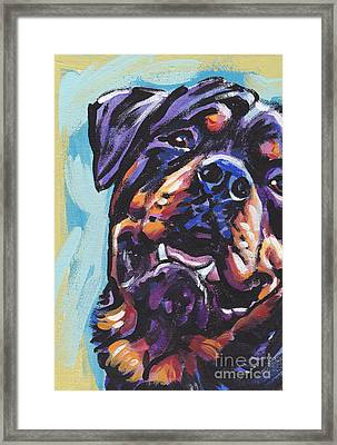 Rottie Power Framed Print by Lea S