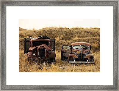 Rotting Jalopies Framed Print by Todd Klassy