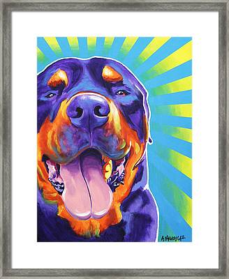 Rottweiler - Duncan Framed Print by Alicia VanNoy Call