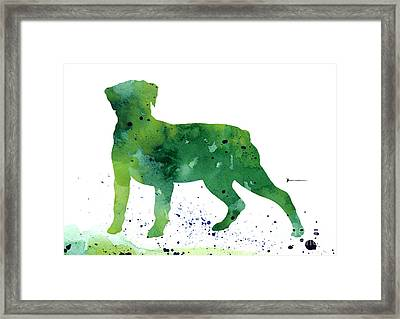 Rottweiler Silhouette Abstract Poster Framed Print