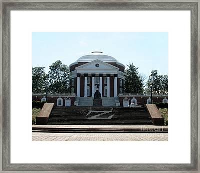 Rotunda   University Of  Virginia Framed Print