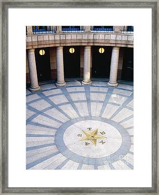 Rotunda In Texas State Capitol Framed Print