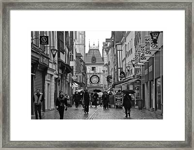 Rouen Street Framed Print