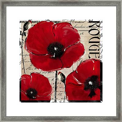 Rouge I Poppy Framed Print