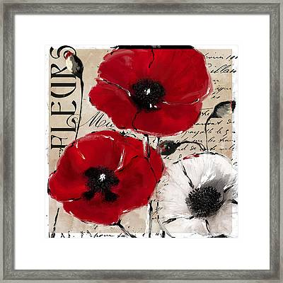 Rouge II Poppies Framed Print