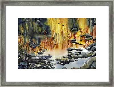 Rouge River Reflection Framed Print