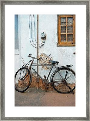 Rough Bike Framed Print