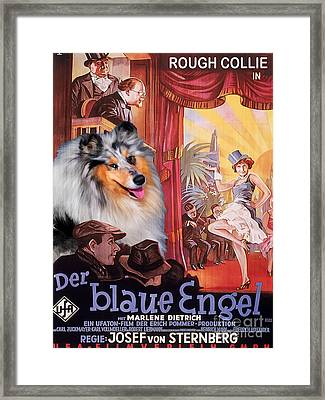 Rough Collie Art Canvas Print - Der Blaue Engel Movie Poster Framed Print