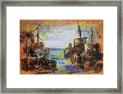 Rough Country Abstract Framed Print