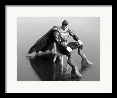 Superhero Photographs Framed Prints