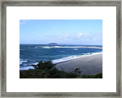 Framed Print featuring the photograph Rough Day On The Point by Barbara Griffin