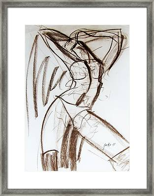 Framed Print featuring the drawing Rough  by Jarko Aka Lui Grande