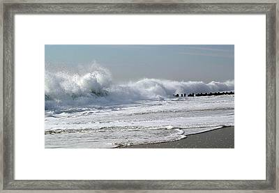 Rough Morning Framed Print by Mary Haber