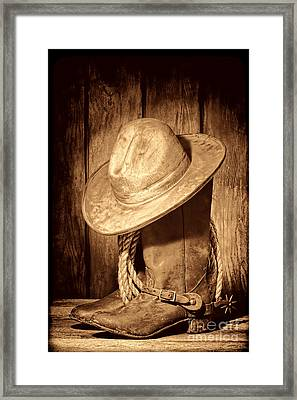 Rough Rider Framed Print by American West Legend By Olivier Le Queinec