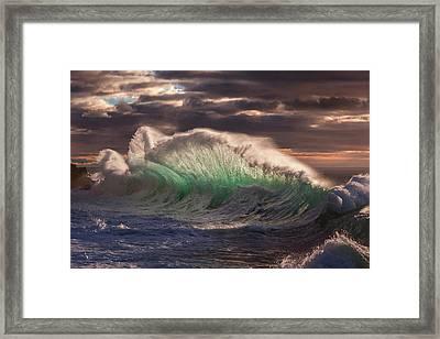 Rough Sea 12 Framed Print