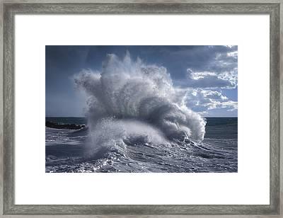 Rough Sea 20 Framed Print