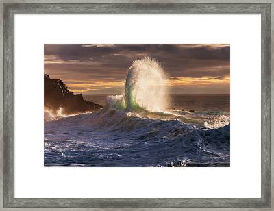 Rough Sea 21 Framed Print