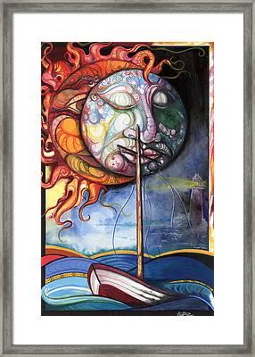 Rough Sea Framed Print by Anthony Burks Sr