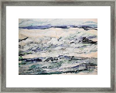 Rough Sea Framed Print by Linda King
