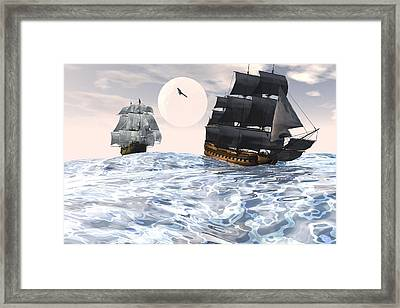 Rough Seas Framed Print by Claude McCoy