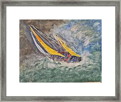 Rough Seas Framed Print