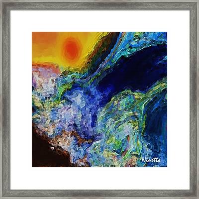 Rough Seas Framed Print by Andrea N Hernandez
