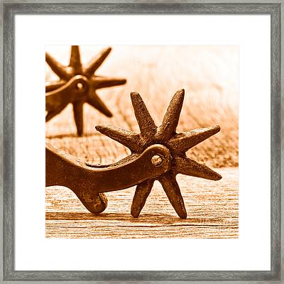 Rough Spurs - Sepia Framed Print by Olivier Le Queinec