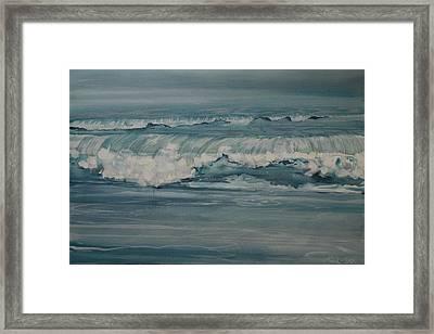 Rough Surf Framed Print