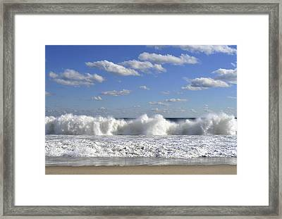 Rough Surf Jersey Shore  Framed Print