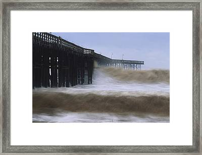 Rough Surf - Ventura Pier Framed Print by Soli Deo Gloria Wilderness And Wildlife Photography