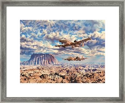 Rough Terrain Framed Print