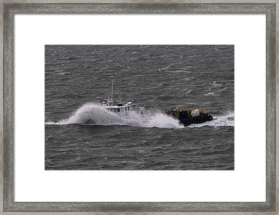 Rough Water Framed Print by Bill Perry
