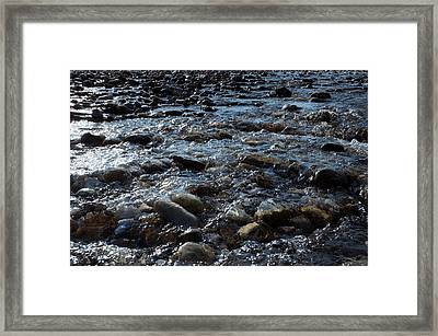 Framed Print featuring the photograph Rough Waters by Helga Novelli